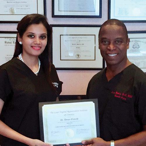 Dr. Deepa Ganesh with Dr. David Matlock