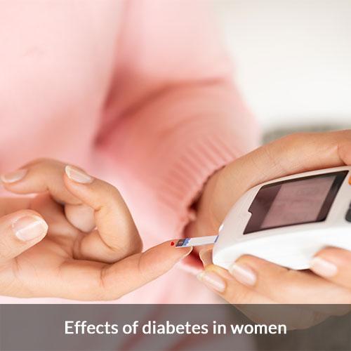 Symptoms and effects of diabetes in women